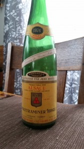 Reg's Wine Blog photo 1976 Gewurztraminer Hugel SGN