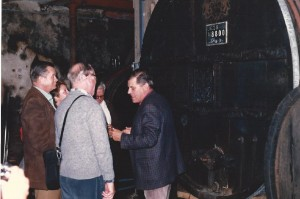 Reg's Wine Blog photo Hugel's Fut 28 Jean gives a tour Sept 1986