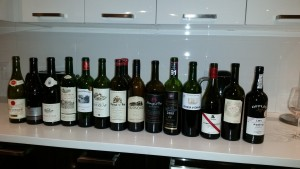 Reg's Wine Blog photo the tasting lineup Jan 23, 2016