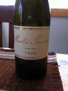 Reg's Wine Blog photo 1988 Moulin Touchais