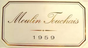Reg's Wine Blog photo Moulin Touchais 1959