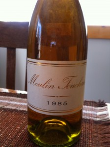 Reg's Wine Blog photo Moulin Touchais 1985